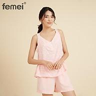 FEMEI - Bộ đồ mặc nhà sát nách FEM005 ROSE thumbnail