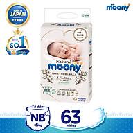 Tã dán cao cấp Moony Natural Newborn 63 miếng nhập khẩu Nhật Bản thumbnail