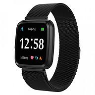 Đồng hồ thông minh theo dõi sức khỏe smartwatch Colmi Y7P dây thép (màu đen) - Hàng chính hãng thumbnail