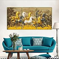 Tranh treo tường 3 tấm trang trí phòng khách, phòng ăn, phòng ngủ Mã Đáo Thành Công 1308L10 thumbnail