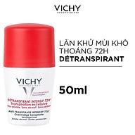Lăn Khử Mùi Vichy Ngăn Mồ Hôi Giữ Khô Thoáng Suốt 72h Déodorant Detranspirant Intensif 50ml thumbnail