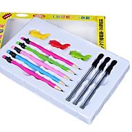 Bộ 3 miếng đệm tay cầm bút hình cá heo kèm 5 bút viết thumbnail