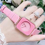 Đồng hồ thời trang nữ GUGU Gu1 mặt chữ nhật dây da mềm. thumbnail