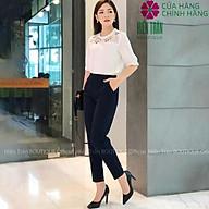 Quần baggy nữ Hiền Trần BOUTIQUE cạp chun sau, quần baggy vải công sở, cạp cao form dáng chuẩn, chất vải cao cấp thumbnail