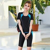 Women Summer Separated Swimwear Long Pants Slim Conservative Swimming Suit thumbnail
