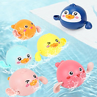 Đồ Chơi Cho Bé Thả Bồn Tắm Hình Vịt Con Lon Ton Bơi Tự Động Theo Dây Cót thumbnail