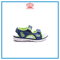 Dép Quai Hậu Cho Bé Trai Đi Học Thời Trang Cao Cấp Crown Space UK Active Sandal CRUK535 Chất Liệu Da Nhẹ Êm Thoáng Khí Thấm Hút Mồ Hôi Cho Trẻ Size từ 26-35 2-14 TuổiTuổi thumbnail
