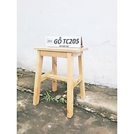 Ghế bar TC205 gỗ tự nhiên cao 60cm - Bar stool thumbnail