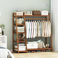 Tủ treo quần áo khung gỗ tre, giá treo quần áo, giàn treo quần áo MGK040 thumbnail