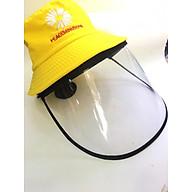 Nón vải có kính nhựa bảo vệ mắt chống giọt bắn Virus, khói bụi - màu vàng thumbnail