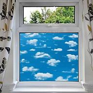 Decal dán kính mờ có sẵn keo bầu trời xanh - decal dán kính phòng khách - phòng ngủ - khách sạn - nhà hàng DK56 thumbnail