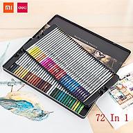 Bút chì màu có thể hòa tan trong nước Xiaomi Deli 24 36 48 72 màu Bút vẽ màu Dụng cụ vẽ tranh Bút vẽ tay có hộp lưu trữ Bút chì màu thumbnail