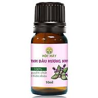 Tinh dầu Hương Nhu 10ml Mộc Mây - tinh dầu thiên nhiên nguyên chất 100% - chất lượng và mùi hương vượt trội - chuyên gia chăm sóc tóc hư tổn thumbnail