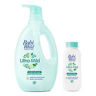 Combo Sữa Tắm Trẻ Em Babi Mild Pure Natural (850ml) - Phấn Thơm Trẻ Em Babi Mild Pure Natural (180g) thumbnail