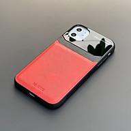 Ốp lưng da kính cao cấp dành cho iPhone 11 - Màu đỏ - Hàng nhập khẩu - DELICATE thumbnail