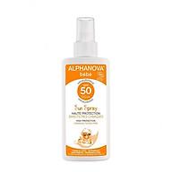 Kem chống nắng hữu cơ cho bé SPF50 dạng xịt Alphanova BeBe 125g thumbnail