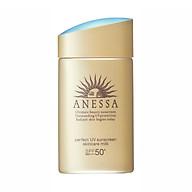 Sữa Chống Nắng Anessa Bảo Vệ Hoàn Hảo - Spf 50+, Pa++++ (An Perfect Uv Sunscreen Skincare Milk) tặng mặt nạ giấy nén Miniso thumbnail