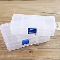 [COMBO 2 HỘP] Hộp đựng đồ trang sức bằng nhựa chia 10 ngăn tiện dụng thumbnail