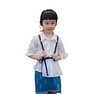 Áo sơ mi trắng bé gái tay xòe LoveKids LK0251 thumbnail
