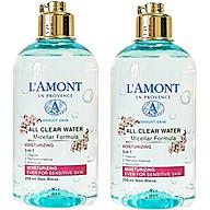 Combo 2 Nước Tẩy Trang Dưỡng Ẩm Sáng Da All Clean Water Micellar Fomula Moisturizing Lamont En Provence (250m x 2 Chail) thumbnail