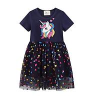 Đầm cho bé gái, váy cho bé gái, váy ren cho bé, áo váy cho bé, váy công chúa cho bé gái mềm mịn, thoáng mát thumbnail