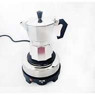 Bộ bếp điện mini pha cà phê và ấm pha cà phê 3 tách 150ml thumbnail