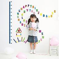 Decal dán tường trang trí phòng cho bé- Thước đo chữ ABC- mã sp DAY746 thumbnail
