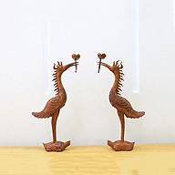 Bộ đồ thờ cặp hạc cao 60cm thumbnail
