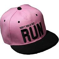 Nón mũ snapback lưỡi chai nữ hoa hồng SB35 Run hồng thumbnail