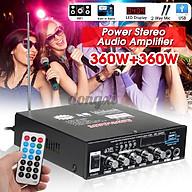 Bộ Khuếch Đại Âm Thanh 360w + 360w Kết Nối Bluetooth Fm Usb Sd Ktv thumbnail