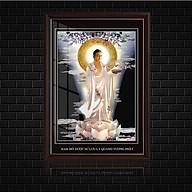 Tranh điện Dược Sư Lưu Ly Phật, Kính cường lực cao cấp , nhiều kích thước, ( Tặng kèm tranh canvas phật A di Đà 25x45 cm ) thumbnail
