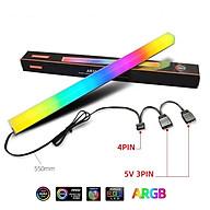 Thanh Led RGB Aura Sync Coolmoon đồng bộ Hub đồng bộ Hub + Sync với main 3Pin 5V cho máy tính - Hàng nhập khẩu thumbnail