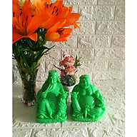Tượng Thần Tài - Thổ Địa cỡ lớn màu xanh ngọc - size 27cm hai tượng - TDX27 thumbnail