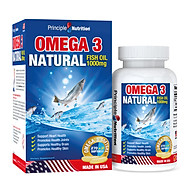 Viên dầu cá tự nhiên Omega 3 Fish Oil 1000mg PRINCIPLE NUTRITION USA hỗ trợ sức khỏe xương khớp tim mạch giảm trầm cảm giúp dễ ngủ và cải thiện sự tập trung thumbnail