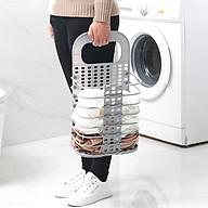 Giỏ đựng đồ máy giặt gấp gọn CỠ LỚN tiện lợi, đa năng (giao màu ngẫu nhiên) thumbnail