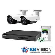 Bộ Camera KBvision Siêu rẻ mà chất luợng cao - Gồm 2 Camera, đầu ghi 4CH và ổ cứng 1TB - Hàng chính hãng thumbnail
