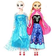 Set 2 Búp Bê Nữ Hoàng Băng Giá Elsa Và Anna Có Khớp thumbnail