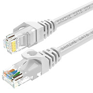 Shanze (SAMZHE) six types of cable CAT6 Gigabit high-speed network line indoor and outdoor 8-core network cable Category 6 computer TV router cable GRE-6020 white 2 meters thumbnail