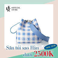 Túi đeo chéo nữ Pingo Bag 20 Check Solid Set FBPG20COABL - màu xanh dương thumbnail