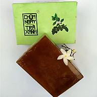 Xà bông Sinh Dược Chùm ngây Trà xanh, xà bông cục handmade 100gr, mẫu bao bì vẽ mộc, mùi trầu không, làm sạch diệt khuẩn hiệu quả từ trầu không, trà xanh theo YHCT có tính mát cho da thumbnail