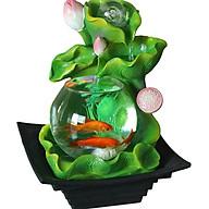 Thác Nước Phong Thủy Hồ Hoa Sen Thủy Tinh thumbnail