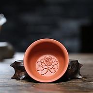 Chén uống trà tử sa hoa mẫu đơn sm003 thumbnail