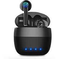 Tai nghe không dây Bluetooth 5.0 IPX5 Chống thấm nước TWS Tai nghe dành cho iPhone Android có hộp sạc Tai nghe Mic Âm thanh Hi-Fi Âm trầm sâu cho Thể thao Du lịch Phòng tập thể dục - Hàng Chính Hãng PKCB thumbnail