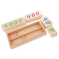 Beechwood Montessori Math Counting Learning Educational Toys 1-9000 Number Cards thumbnail