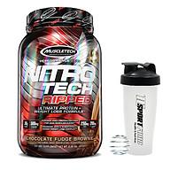 Combo Sữa tăng cơ giảm mỡ Whey Protein Nitro Tech Ripped của Muscle Tech hương Chocolate hộp 2lbs & Bình lắc 600ml (Mẫu ngẫu nhiên) thumbnail