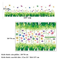 Decal trang trí dán chân tường hình hoa bướm đầy màu sắc cho bé XL7183 thumbnail