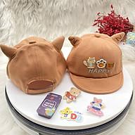 Mũ em bé Nón trẻ em nón Lưỡi Trai Con Mèo HAPPY Dễ Thương Điều Chỉnh Quai Cho Bé Trai Gái Từ 1 tuổi đến 3 tuổi thumbnail