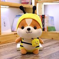 Gấu bông gối ôm chú chó Shiba Cosplay đáng yêu nghộ nghĩnh-Vàng thumbnail
