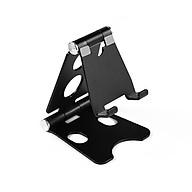 Adjustable Folding Phone Tablet Stand Desktop Bracket Portable Aluminum Alloy Mobile Phone Tablet Universal Stand Silver thumbnail