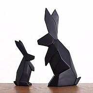Đôi thỏ gấp khúc màu đen thumbnail